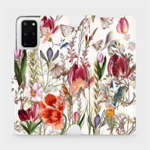 Flip pouzdro Mobiwear na mobil Samsung Galaxy S20 Plus - MP01S Rozkvetlá louka