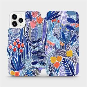 Flip pouzdro Mobiwear na mobil Apple iPhone 11 Pro - MP03P Modrá květena