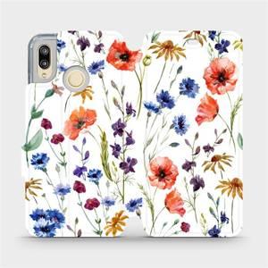 Flip pouzdro Mobiwear na mobil Huawei P20 Lite - MP04S Luční kvítí