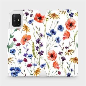 Flip pouzdro Mobiwear na mobil Samsung Galaxy A51 - MP04S Luční kvítí