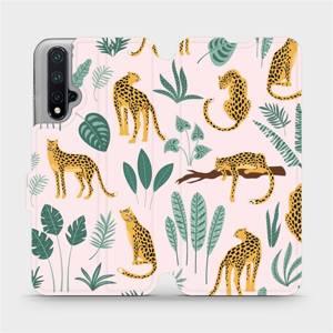 Flip pouzdro Mobiwear na mobil Honor 20 - MP07S Leopardi