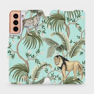 Flip pouzdro Mobiwear na mobil Samsung Galaxy S21 - MP08S Dvě kočičky