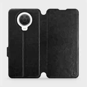 Flip pouzdro Mobiwear na mobil Nokia G20 v provedení C_BLS Black&Gray s šedým vnitřkem
