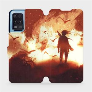 Flip pouzdro Mobiwear na mobil Realme 8 5G - MA06S Postava v ohni