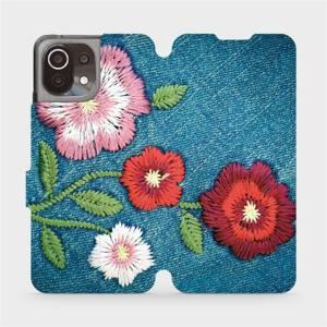 Flip pouzdro Mobiwear na mobil Xiaomi 11 Lite 5G NE - MD05P Džínové květy