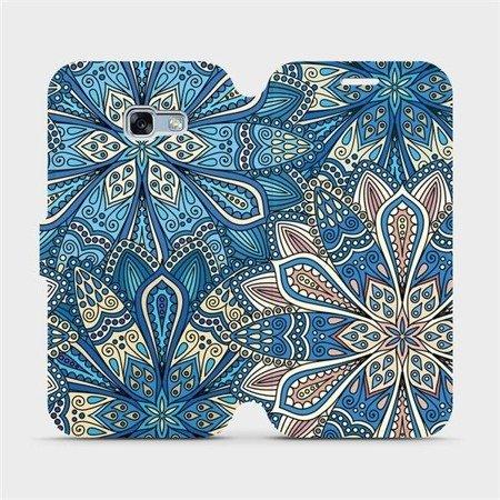 Flipové pouzdro Mobiwear na mobil Samsung Galaxy A3 2017 - V108P Modré mandala květy