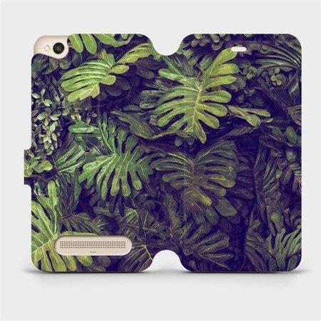 Flipové pouzdro Mobiwear na mobil Xiaomi Redmi 4A - V136P Zelená stěna z listů