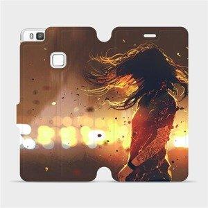 Flipové pouzdro Mobiwear na mobil Huawei P9 Lite - MA02S Tetovaná dívka