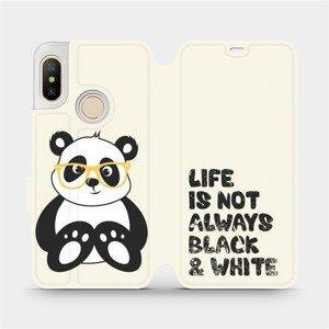 Flipové pouzdro Mobiwear na mobil Xiaomi Mi A2 Lite - M041S Panda - life is not always black and white