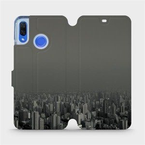 Flipové pouzdro Mobiwear na mobil Huawei Nova 3 - V063P Město v šedém hávu