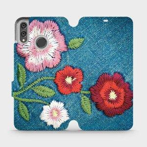 Flipové pouzdro Mobiwear na mobil Honor 8X - MD05P Džínové květy