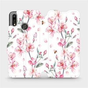 Flipové pouzdro Mobiwear na mobil Huawei P Smart 2019 - M124S Růžové květy