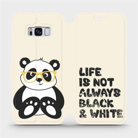 Flipové pouzdro Mobiwear na mobil Samsung Galaxy S8 - M041S Panda - life is not always black and white