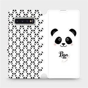 Flipové pouzdro Mobiwear na mobil Samsung Galaxy S10 Plus - M030P Panda Amálka