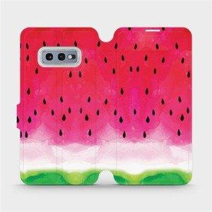 Flipové pouzdro Mobiwear na mobil Samsung Galaxy S10e - V086S Melounek
