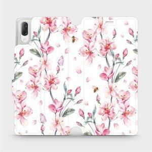 Flipové pouzdro Mobiwear na mobil Sony Xperia L3 - M124S Růžové květy
