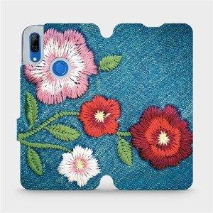 Flipové pouzdro Mobiwear na mobil Huawei P Smart Z - MD05P Džínové květy