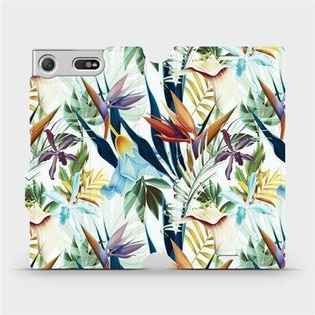 Flipové pouzdro Mobiwear na mobil Sony Xperia XZ1 Compact - M071P Flóra