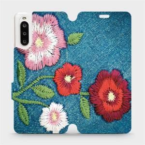 Flipové pouzdro Mobiwear na mobil Sony Xperia 10 II - MD05P Džínové květy