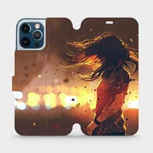 Flipové pouzdro Mobiwear na mobil Apple iPhone 12 Pro Max - MA02S Tetovaná dívka