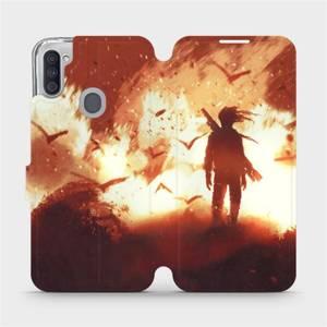 Flipové pouzdro Mobiwear na mobil Samsung Galaxy M11 - MA06S Postava v ohni