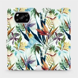 Flipové pouzdro Mobiwear na mobil Xiaomi POCO X3 NFC - M071P Flóra