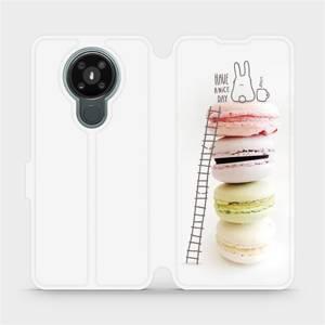 Flipové pouzdro Mobiwear na mobil Nokia 3.4 - M090P Makronky - have a nice day