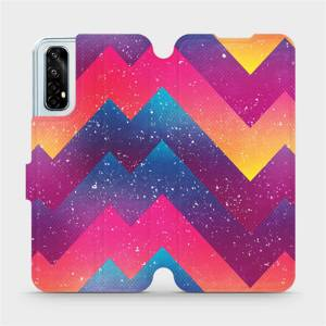 Flipové pouzdro Mobiwear na mobil Realme 7 - V110S Barevné klikyháky