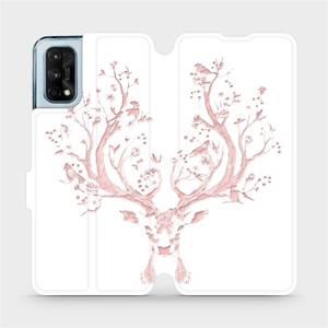 Flipové pouzdro Mobiwear na mobil Realme 7 Pro - M007S Růžový jelínek