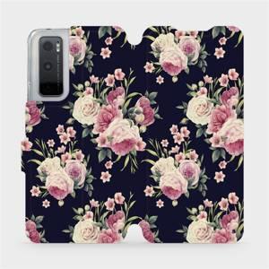 Flipové pouzdro Mobiwear na mobil Vivo Y70 - V068P Růžičky