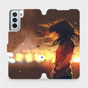 Flipové pouzdro Mobiwear na mobil Samsung Galaxy S21 Plus 5G - MA02S Tetovaná dívka