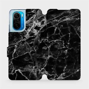 Flipové pouzdro Mobiwear na mobil Xiaomi Mi 11i / Xiaomi Poco F3 - V056P Černý mramor
