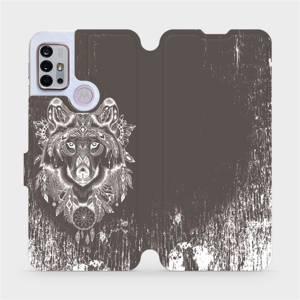 Flipové pouzdro Mobiwear na mobil Motorola Moto G10 - V064P Vlk a lapač snů