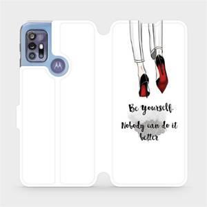 Flipové pouzdro Mobiwear na mobil Motorola Moto G30 - M046P Be yourself