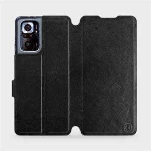 Flipové pouzdro Mobiwear na mobil Xiaomi Redmi Note 10 Pro v provedení C_BLS Black&Gray s šedým vnitřkem