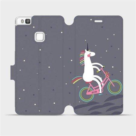 Flipové pouzdro Mobiwear na mobil Huawei P9 Lite - V024P Jednorožec na kole