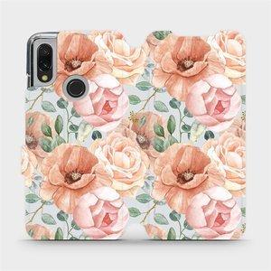Flip pouzdro Mobiwear na mobil Xiaomi Redmi 7 - MP02S Pastelové květy