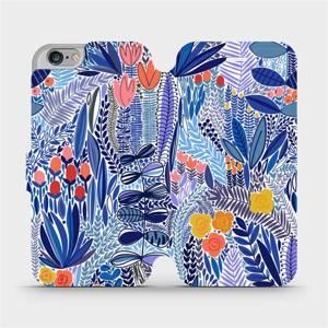 Flip pouzdro Mobiwear na mobil Apple iPhone 6s / iPhone 6 - MP03P Modrá květena