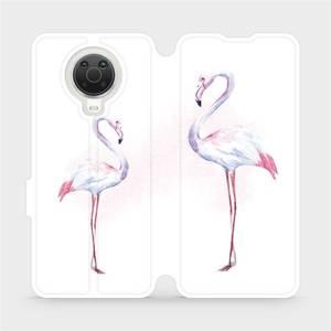 Flip pouzdro Mobiwear na mobil Nokia G20 - M005S Plameňáci