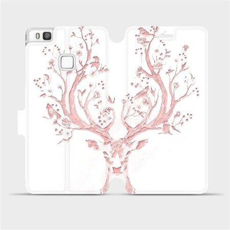Flipové pouzdro Mobiwear na mobil Huawei P9 Lite - M007S Růžový jelínek