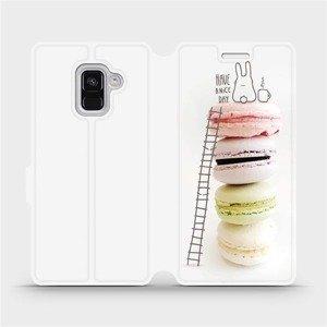 Flipové pouzdro Mobiwear na mobil Samsung Galaxy A8 2018 - M090P Makronky - have a nice day