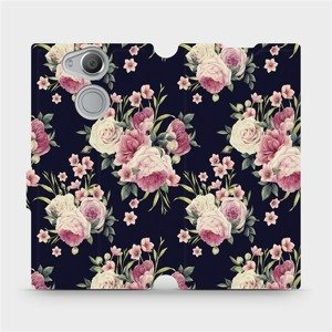 Flipové pouzdro Mobiwear na mobil Sony Xperia XA2 - V068P Růžičky