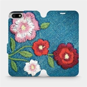 Flipové pouzdro Mobiwear na mobil Honor 7S - MD05P Džínové květy