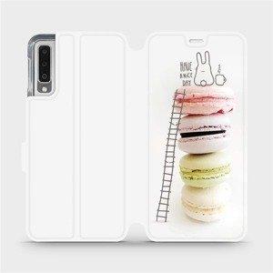 Flipové pouzdro Mobiwear na mobil Samsung Galaxy A7 2018 - M090P Makronky - have a nice day