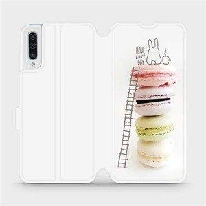Flipové pouzdro Mobiwear na mobil Samsung Galaxy A50 - M090P Makronky - have a nice day