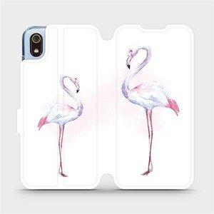 Flipové pouzdro Mobiwear na mobil Xiaomi Redmi 7A - M005S Plameňáci