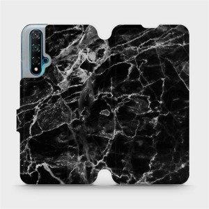 Flipové pouzdro Mobiwear na mobil Huawei Nova 5T - V056P Černý mramor