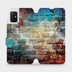 Flipové pouzdro Mobiwear na mobil Samsung Galaxy A51 - V061P Zeď - výprodej