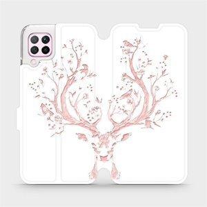 Flipové pouzdro Mobiwear na mobil Huawei P40 Lite - M007S Růžový jelínek