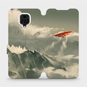 Flipové pouzdro Mobiwear na mobil Xiaomi Redmi Note 9 Pro - MA03P Oranžové letadlo v horách